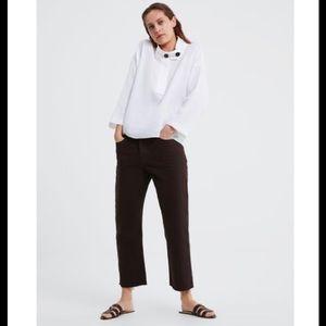 Zara White Linen Top
